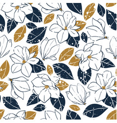 Botanical seamless pattern in vintage style vector