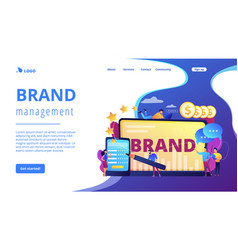 Brand reputation concept landing page vector