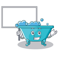 bring board bathtub character cartoon style vector image