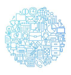 Business line icon circle design vector