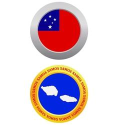 button as a symbol SAMOA vector image
