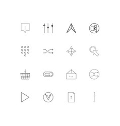 buttons linear thin icons set outlined simple vector image
