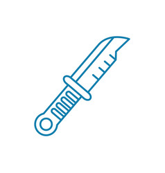 camping knife linear icon concept camping knife vector image