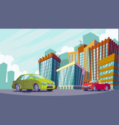 cartoon an urban landscape vector image