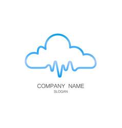 cloud pulse logo vector image