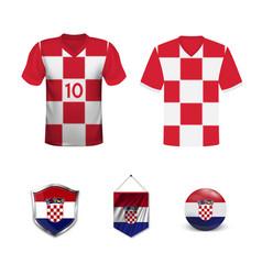 Croatia soccer jersey vector