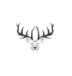 deer with growler negative space concept vector image
