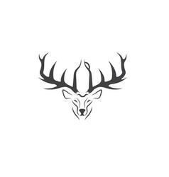 Deer with growler negative space concept vector