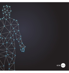 dna genetic symbol man with dna structure vector image