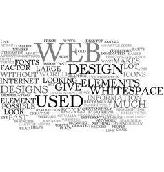 Elements of web graphics text background word vector