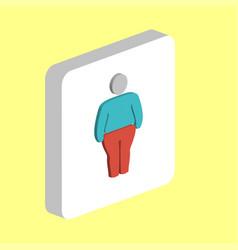 fat man obesity computer symbol vector image
