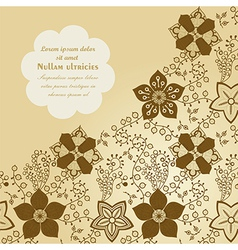 Floral background spring theme greeting card vector