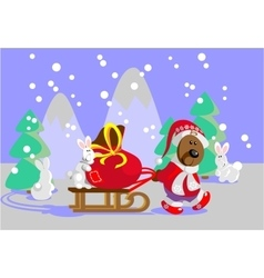 Forest Santa Claus vector image