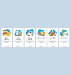 france website and mobile app onboarding screens vector image
