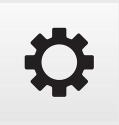 gear icon flat engineering symbol isolated on whi vector image