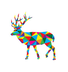 Geometric deer vector