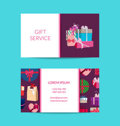 gift service shop business card template vector image