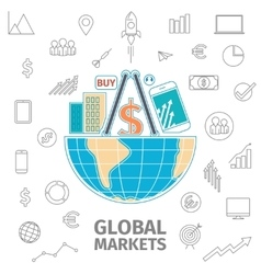 Global Markets concept vector