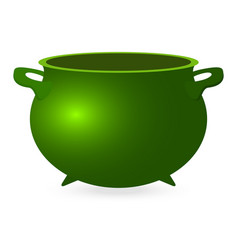 Green empty pot for st patrick s day for coins vector