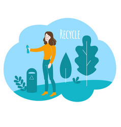 Healthy lifestyle environment care vector