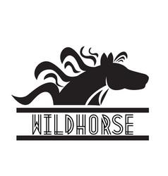 horse animal natural logo vector image