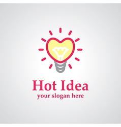 Hot idea logo vector