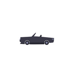 Isolated roadster car vehicle fill style icon vector
