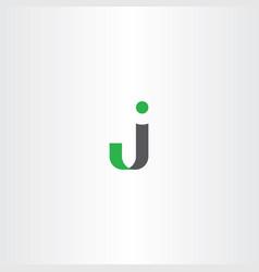 j logo letter symbol vector image