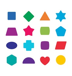 Learning toys color shapes set for kids education vector image