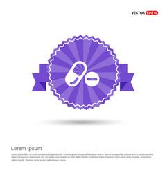 Medicine symbol icon - purple ribbon banner vector