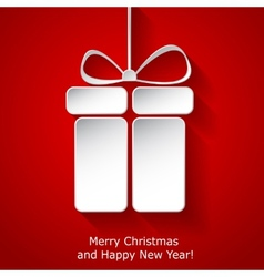Modern Xmas greeting card vector image