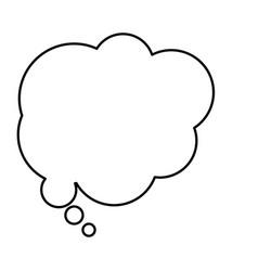 Monochrome contour with cloud speech vector