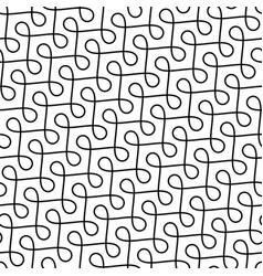 Monochrome seamless thin swirls pattern vector