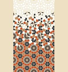 Moroccan mosaic wallpaper repeating border vector