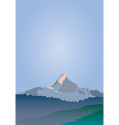 mountain peak and blue sky vector image