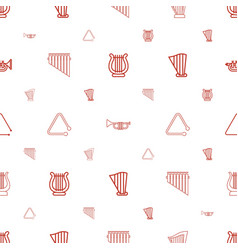 orchestra icons pattern seamless white background vector image