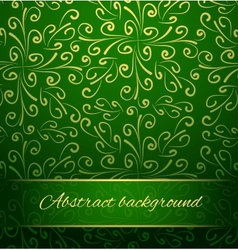 Oriental abstract background in green and gold vector image