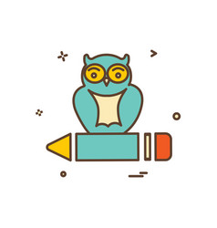 owl icon design vector image