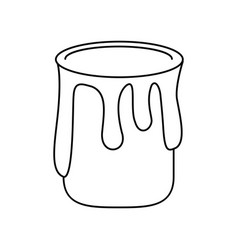Paint can colo thin line vector