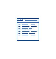 programmingcoding line icon concept programming vector image