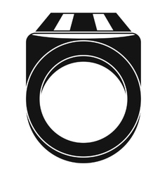 Ring icon simple style vector