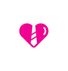Romantic job logo icon design vector
