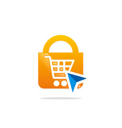Save online shopping logo vector