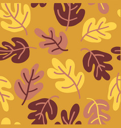 seamless autumn pattern of fall leaves vector image