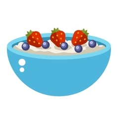 Semolina porridge vector image