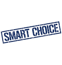 smart choice stamp vector image