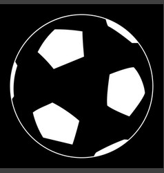 Soccer ball the white color icon vector