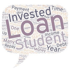 Student Loans Investment Or Liability text vector
