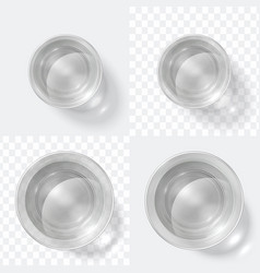Top view glass clear shot vodka or water vector