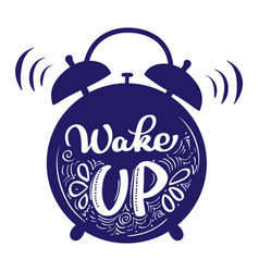 wake up modern calligraphy lettering style text vector image
